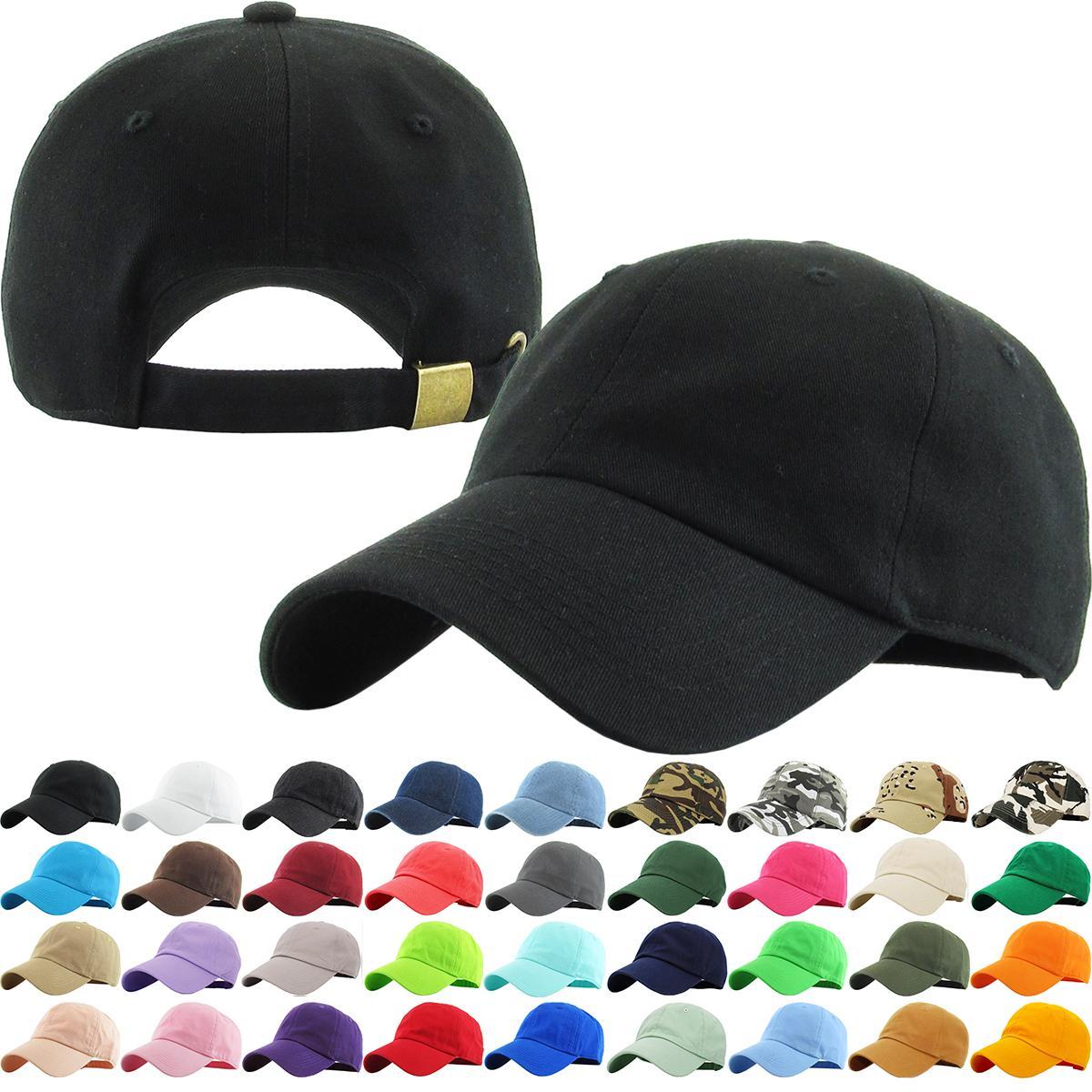 GWHOLE Classic Cotton Plain Basic Baseball Cap Black