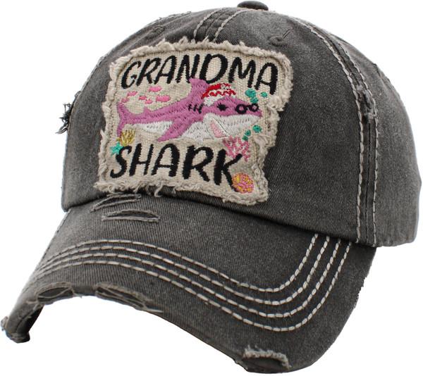 Grandma Shark Vintage Ballcap
